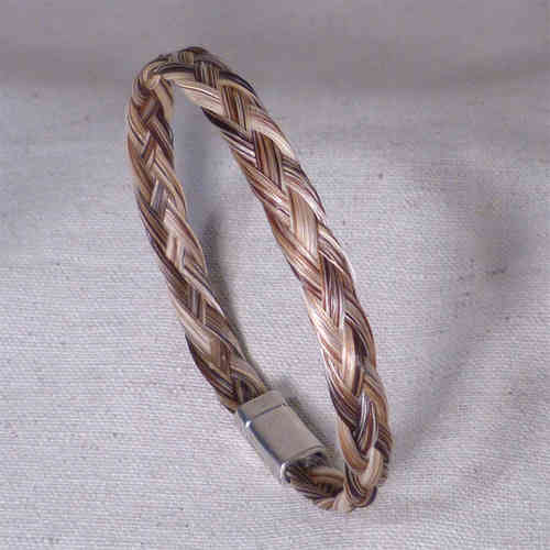 bracelet tresse large beige naturel