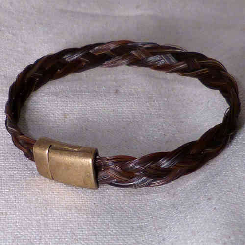 bracelet tresse large marron naturel