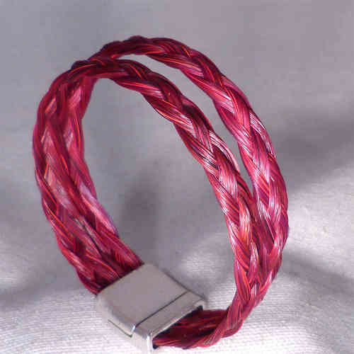 bracelet tresse double bordeaux